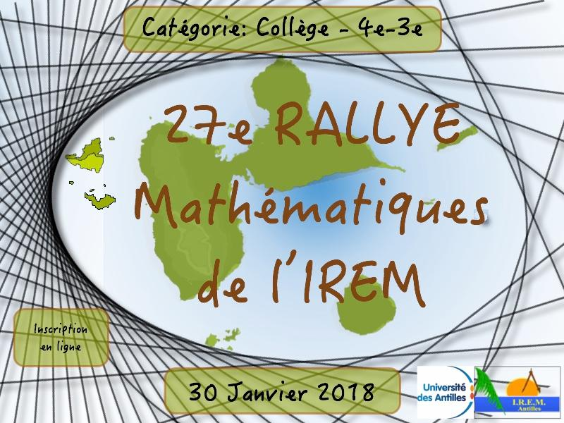 Rallye maths college